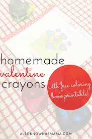 homemade crayons mini coloring books for valentine s day