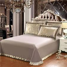 luxury duvet gold silver coffee jacquard luxury bedding set queen king size stain bed set cotton