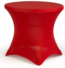 cocktail spandex table cover red