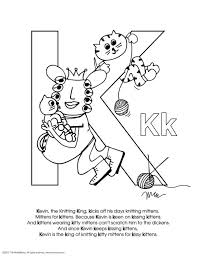 Colors always seem to appeal children, it's more eye catching and attracts them towards stuff because it is easier for them to see. Free Alphabet Coloring Pages Letter K The Momemans