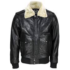 black leather er jacket