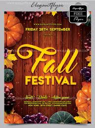 Fall Festival Flier 30 Premium And Free Fall Festival And Party Flyer Designs