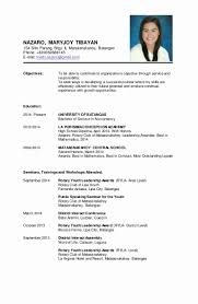 Simple Resume Sample Resume Personal Background Sample Luxury Awesome Resume Personal 63