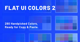 Blue Color Chart With Names Palettes Flat Ui Colors