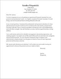 Personal Assistant Cover Letter Free Sample Cover Letter Resume