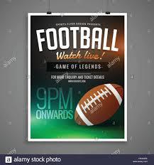 Football Invitation Template Football Event Card Design Invitation Template Stock Vector Art