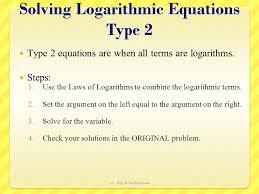 6 solving logarithmic