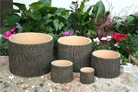 large cement planters. Cement Planters For Sale Wooden Planter Tree Stump On . Large