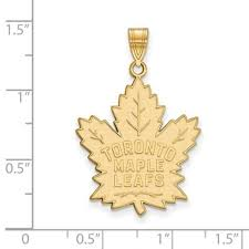 nhl licensed toronto maple leafs pendant 10k yellow gold 33mm