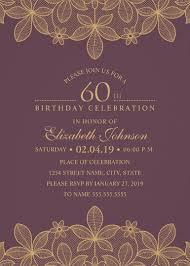 Free 60th Birthday Invitation Templates Major Magdalene