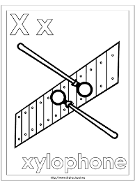 Small Picture Xylophone Coloring Page Alphabet Letter X Preschool Activities