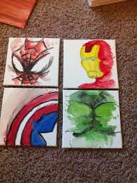 Marvel Bedroom Accessories Superhero Canvas Set X 3 Wall Art Boys Pinteres
