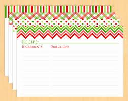 Christmas Recipe Cards Template 30 Editable Recipe Card Template Tate Publishing News