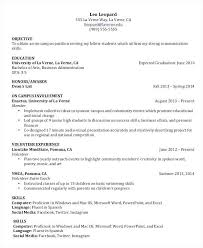 College Student Resume Example Awesome Objective For A College