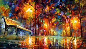 Painting Canvas Lost Love Palette Knife Oil Painting On Canvas By Leonid Afremov