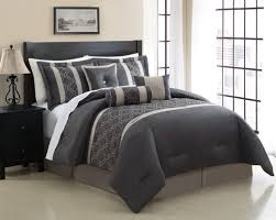 bedroom dark grey king comforter sets set of 7 intended for california clearance decor 16