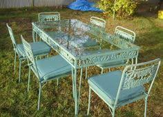 vintage wrought iron table. Wonderful Vintage Vintage Wrought Iron Patio Furniture My Apartment Story Inside Table