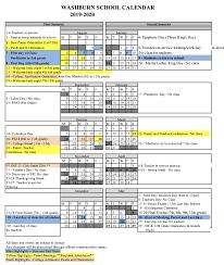 2019 2020 Official School Calendars Official 2019 2020