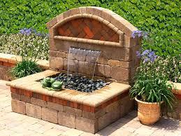 solar water fountains garden best patio water fountains with outdoor garden wall fountains design ideas models