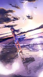 Anime Girl On Beach Wallpaper for ...