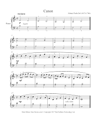 Very easy piano version for canon in d , but sounds nice & lovely. Pachelbel Canon In D Sheet Music For Piano 8notes Com
