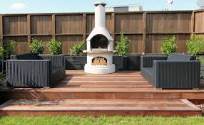 outdoor fireplace place which can also be used as a pizza oven
