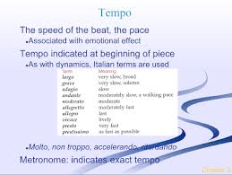 Tempo Speed Ms Macleods Orchestra Page
