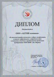 Диплом ПКФ Экс Форма за эффективное сотрудничество  ООО ПКФ Экс Форма За высокий профессионализм и эффективное сотрудничество