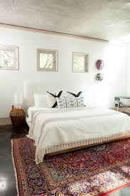 floor rugs for bedrooms. kayla \u0026 amir\u0027s mid-century-meets-marfa home in austin floor rugs for bedrooms g