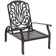 Patio Recliner Chairs Rosedown Cast Aluminum Patio Reclining Chair By Lakeview Outdoor