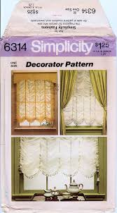 austrian shade pattern balloon shade pattern sheer shades simplicity 6314 uncut window shade pattern 36 42 wide roman shade roman blind from madpatterns1