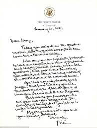letters clinton wrote to george w bush and bush to obama daily former president bill clinton wrote a letter to incoming president bush in 2001 saying