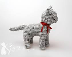 Free Crochet Cat Patterns Amazing Sandy The Cat Seamless Amigurumi Pattern Stuff The Body
