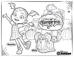 Heres A Spook Tacular Vampirina Coloring Sheet For Your Little Ones