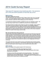 Survey Report Whs Guild 2014 Survey Report By Wycombe High School Issuu