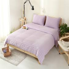 home textile simple euope100 high quality cotton unique knitting purple and white stripe bedding sets queen king size duvet cover red and white duvet cover