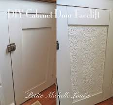 Making Kitchen Cabinet Doors Diy Cabinet Door Faceliftusing As A Face Lift On Solid White