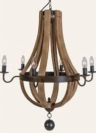 wine barrel chandelier