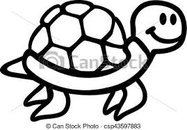 Small Picture Vector of Swimming Turtle cartoon outline csp43597883 Search