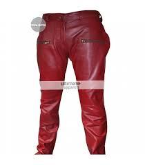 kylie jenner burdy maroon women leather pants 525x600 jpg