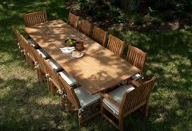 the elegant and classic 13 piece grand veranda dining set