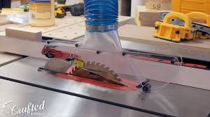 picture of dust collection on the table saw