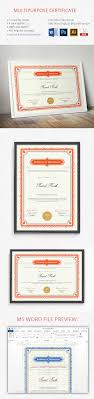 diploma certificate templates printable psd word certificate template available in ms word
