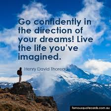 Thoreau Dream Quote Best of Famous Quote Cards Quote By Henry David Thoreau The Direction Of