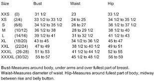 St John S Bay Swimwear Size Chart Size Chart