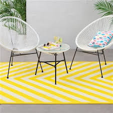 Outdoor Rug Chevron Print Yellow Kmart 79 Kmart Love Kmart Patio