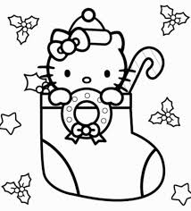 Small Picture Hello Kitty Christmas Coloring Pages GetColoringPagescom