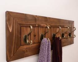 Brass Wall Coat Rack Walnut Coat Rack Etsy 96