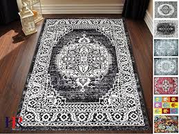 handcraft rugs black white charcoal faded oriental distressed area rug vintage persian area rug abstract fl kashan 8x10 feet