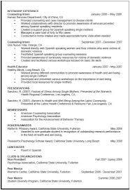 Grad School Resume Tips Psychology Graduate School Resume Examples Career Objective